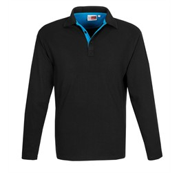 Golfers - US Basic Mens Long Sleeve Solo Golf Shirt