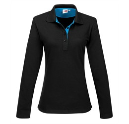 Golfers - US Basic Ladies Long Sleeve Solo Golf Shirt