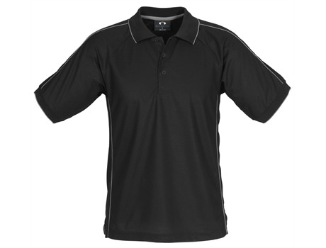 Biz Collection Mens Resort Golf Shirt in Black Code BIZ-3606
