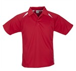 Kids Splice Golf Shirt Red