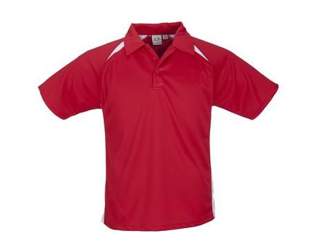 Biz Collection Kids Splice Golf Shirt in Red Code BIZ-3611