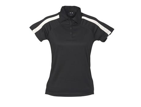Biz Collection Ladies Monte Carlo Golf Shirt in black Code BIZ-3613