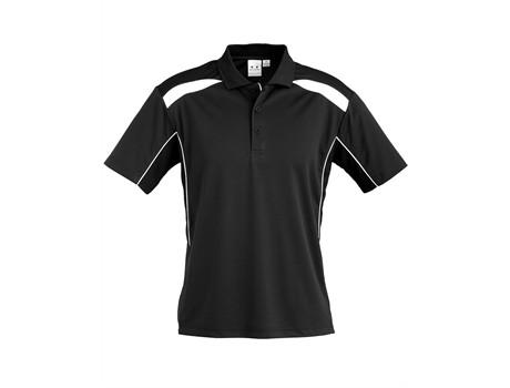 Biz Collection Mens United Golf Shirt in Black Code BIZ-3641