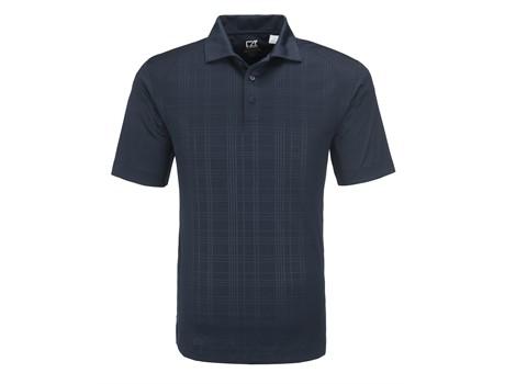 Cutter and Buck Cutter And  Buck Sullivan Mens Golf Shirt in black Code CB-5802