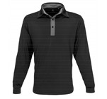 Mens Long Sleeve Pensacola Golf Shirt Black