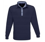Mens Long Sleeve Pensacola Golf Shirt Navy