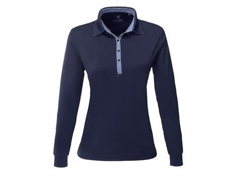 Gary Player Ladies Long Sleeve Pensacola Golf Shirt in Navy Code GP-7461