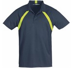 Mens Jebel Golf Shirt Navy With Lime