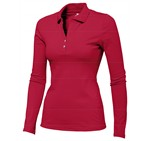 Ladies Long Sleeve Zenith Golf Shirt Red