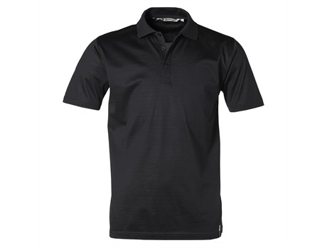 Slazenger Double Mercerized Mens Golf Shirt in Black Code SLAZ-3211